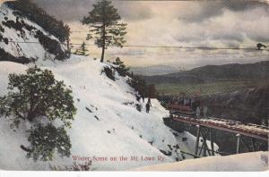 CALIFORNIA, 1900-1910's; Winter Scene On Mount Lowe Ry.