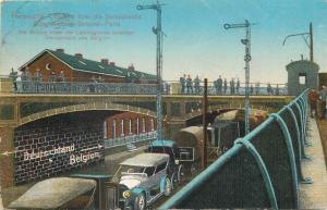 Belgium Herbesthal Brücke über die Bahnstrecke Cöln - Aachen - Brüssel - Paris