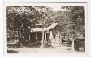 Oak Cottage 4-H Camp Caesar Webster County West Virginia RPPC postcard