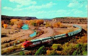 New Mexico Postcard Santa Fe Railroad Hi-Level EL CAPITAN in Shoemaker Canyon