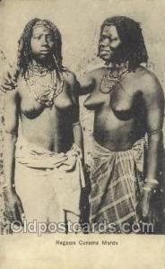 Ragazze Cunama Marda African Nude Nudes Postcard Post Card  Ragazze Cunama Marda