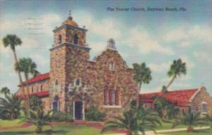 Florida Daytona The Tourist Church 1948 Curteich