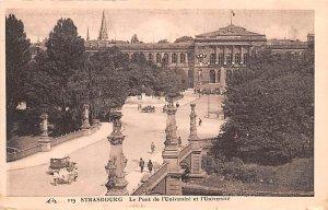 Le Pont de l'Universite et l'Universite Strasbourg France Unused