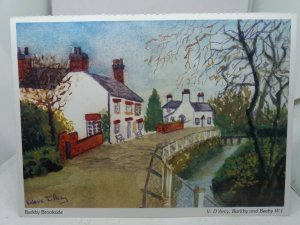 Vintage Postcard Summer Day Barkby Brookside Painting by Valerie D'Arcy 1980s