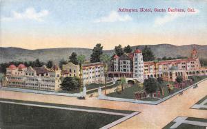 Arlington Hotel, Santa Barbara, California, Early Postcard, Unused
