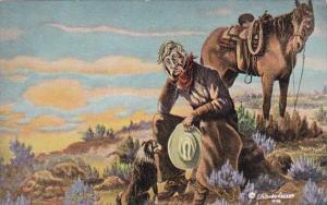THat New Range Ahead By Cowboy Artist L H Dude Larsen