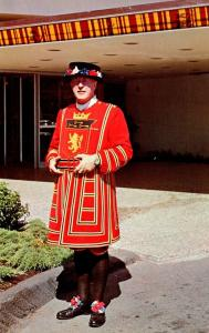 Canada Vancouver Bayshore Inn Hotel Doorman In Authentic Yeoman Of The Guard ...