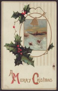 A Merry Christmas,Holly,Bell,Scene