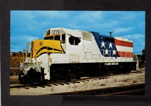 Illinois Central Gulf Railroad Train Locomotive 1776 Bicentennial Postcard