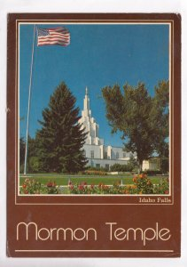 Mormon Temple, Idaho Falls, 1984 used Postcard