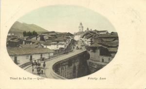 ecuador, QUITO, Túnel de La Paz (1899) Fototip. Laso