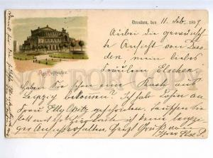 214043 GERMANY DRESDEN Theatre 1899 year postcard