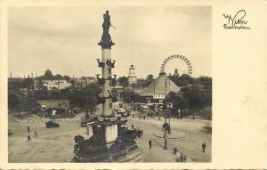 austria, WIEN VIENNA, Praterstern, Ferris Wheel, Planetarium 1930s RPPC Postcard