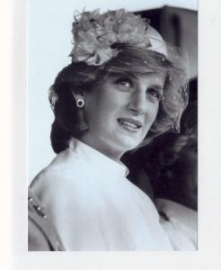 mm88 - Princess Diana in net hat - photograph 6x4