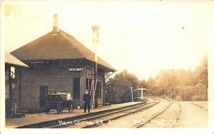 West Minot ME Central Railroad Station Train Depot RPPC Postcard