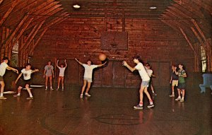 Basketball at Camp Notre Dame in Spofford, NH