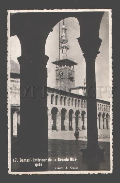 088937 SYRIA Damas interieur de la grande mosquee photo Scavo