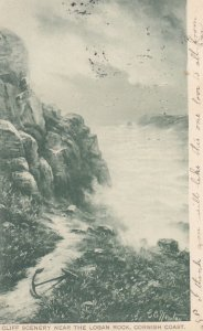 Cliff Scenery near the Logan Rock , Cornish Coast , England , 00-10s ; TUCK