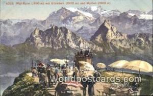Rigi Kulm Swizerland, Schweiz, Svizzera, Suisse Mit Glarnisch und Mythen  Mit...