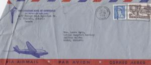 Canadian Bank Writes To Saffron Walden Essex 1950s Cover
