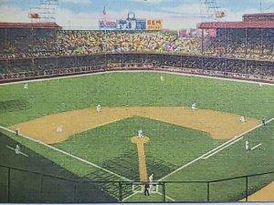 Briggs Stadium Detroit Michigan VTG Postcard Linen Detroit Tigers unposted   669