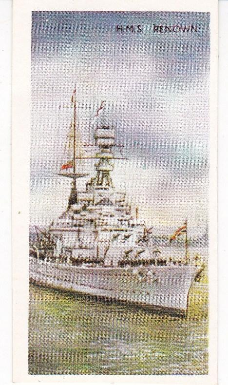 Cigarette Card: Carreras Our Navy No 24 H.M.S. Renown