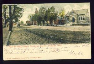 Amesbury, Massachusetts/MA Postcard, Main Street Toward Huntington Square, 1906!