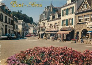 France pont aven la place gauguin city street view postcard