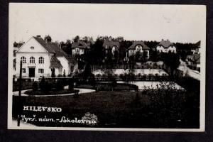 Czechoslovakia Tyrs narn Sokolovna Milevsko Postcard Real Photo Ceskoslovensko