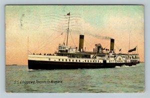 Steamship Chippewa, Toronto To Niagara, Vintage c1911 Postcard