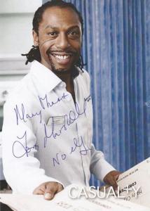Noel Garcia Tony Marshall Casualty BBC Hand Signed Photo Cast Card