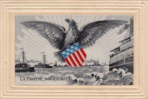WAR 1914-18 ; La Fayette, Nous Voici! , St Etienne ; US Navy Ships & Eagle ; ...