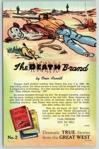 Dramatic True Storiette~Great West~Death Brand~Jess Hitson~Arnold~# 2~1943 Linen