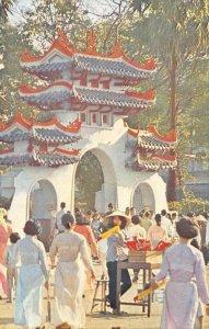 Cổng Lăng ông VIETNAM Street Scene c1960s Vintage Postcard