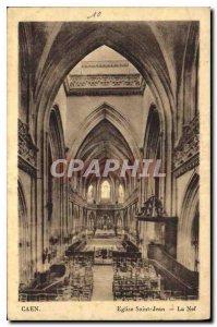 Old Postcard Caen Eglise Saint Jean La Nave