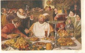 J.M. Carbonero. The banquet of Sancho Panza Fine painting, nice spanish PC 192