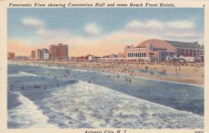 Panoramic View showing Convention Hall and some Beach Front Hotels, Atlantic ...