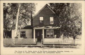 Callander Ontario Dr. Dafoe Home - Dionne Quintuplets Postcard