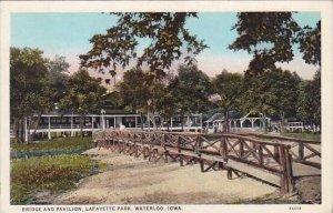 Iowa Waterloo Bridge and Pavilion Lafayette Park