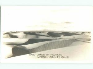 Pre-1950 rppc SAND DUNES IMPERIAL VALLEY Heber & Brawley & El Centro CA i9837