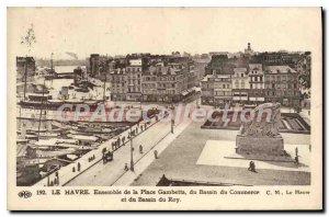 Old Postcard Set Of Le Havre Place Gambetta Basin Du Commerce Basin du Roy