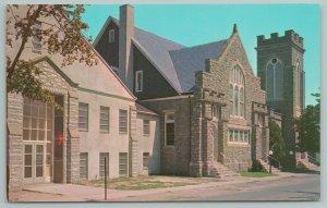 Lewes Delaware~Methodist Church Entrance~Vintage Postcard