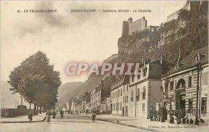Old Postcard Besancon Faubourg Rivotte The Citadel