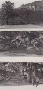 Vianden Luxembourg Aerial 3x Real Photo Postcard s
