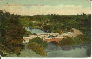 Boston, Mass., Bridge And Lake, Franklin Park