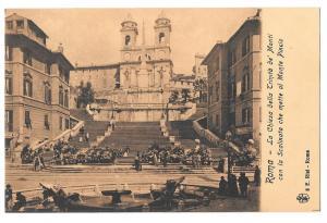 Italy Roma Chiesa Della Trinita de Monti Spanish Stairs