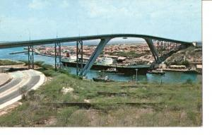 Postal 029568 : Cura?o Netherland Antilles. New bridge spanning entrance to h...