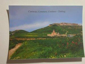 UNUSED PICTURE POSTCARD - GOZO MALTA ZEBBUG CEMETARY  (KK1859)