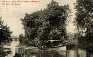 MI - South Haven. Black River, Michigan Central Railroad Bridge