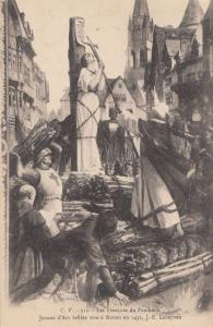 Joan Of Arc Burned at Stake Antique Postcard